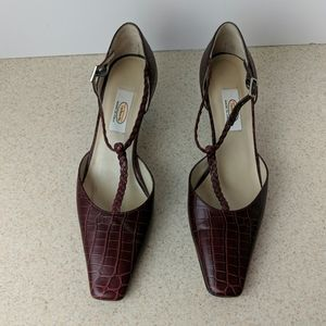 Talbots size 8.5N burgundy leather heels